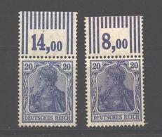 D.R.87 IIc,d Mit Oberrand,Haftspuren (3650) - Unused Stamps