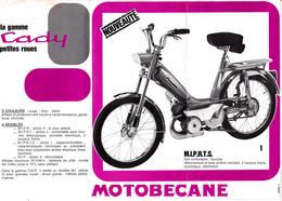 Publicité 2 Feuillets 21 X 20 MOTOBECANE La Gamme CADY  Mobylette  2 Roues Autre (2 Scans) - Publicités