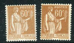 France - N°364 , Variété, 1 Extra Pâle + 1 Normal ,neufs Luxe - Ref V346 - Variedades Y Curiosidades