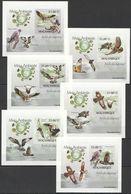 J124 !!! IMPERFORATE 2010 MOCAMBIQUE FAUNA BIRDS AVES DE RAPINA 6 LUX BL MNH - Eagles & Birds Of Prey