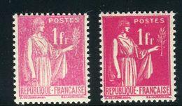 France - N°369 , Variété, 1 Extra Pâle + 1 Normal ,neufs Luxe - Ref V347 - Variedades Y Curiosidades
