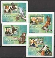 J129 2007 GUINE-BISSAU FAUNA BIRDS GRANDES ORNITOLOGISTAS 4 LUX BL MNH - Eagles & Birds Of Prey