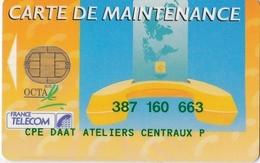 TELECARTE DE MAINTENANCE - Cartes De Maintenance