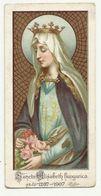 Santa Elisabeth Hungarica Holy Card 1907 - Santini