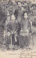 Saïgon (Viêt-Nam) - Un Notable Et Sa Famille - Vietnam
