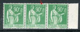 France - N°367 , Variété, 1 Exemplaire Lettre E De Postes Coloré Dans Une Bande De 3 ,neufs Luxe - Ref V352 - Variedades Y Curiosidades