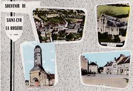 Carte 1960 SOUVENIR DE SAINT CYR LA ROSIERE / MULTIVUES - France