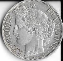 5 Francs Cerès 1850 A Paris Argent Sup / Spl - J. 5 Franchi