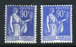 France - N°368 , Variété, 1 Clair + 1 Foncé ,neufs Luxe - Ref V356 - Variedades Y Curiosidades