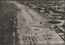 La Spaggia Dall'Aereo, Rimini, C.1950s - L'Adriatica Foto Cartolina - Rimini