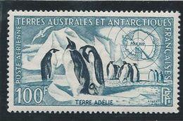 TAAF 1959 - YT PA N°3 - 100 F. - Faune -  Manchots Empereurs - NEUF** TTB Etat - Airmail