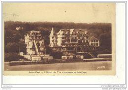 SAINT CAST L'HOTEL AR VRO ET SON ANNEXE VUE DE LA PLAGE CPA BON ETAT - Saint-Cast-le-Guildo