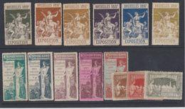 Belgique - 1897 - Vignettes - **  - Exposition Internationale De Bruxelles - Vignettes D'affranchissement