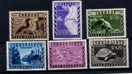 ECUADOR 1957 GALAPAGOS ISLANDS TURTLE SEA WOLF IGUANA MAPS LANDSCAPE MINT SC# L1-L3 / LC1-LC3 - Ecuador