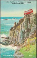Comic, Tom Kerr - Plenty Of Petrol At Land's End, Cornwall, 1972 - Bamforth Postcard - Land's End