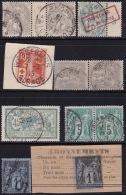Divers Annuler Lot Sur Sage Et Al Perforé #11 - Marcophily (detached Stamps)