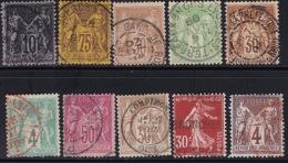 Divers Annuler Lot Sur Sage Et Al Perforé #13 - Marcophily (detached Stamps)
