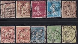 Divers Annuler Lot Sur Sage Et Al Perforé #15 - Marcophily (detached Stamps)