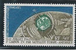 TAAF 1963 - YT PA N°6 - 50 F. - Télécomunications Spatiales -  1ère Liaison TV - NEUF* TTB Etat - Airmail