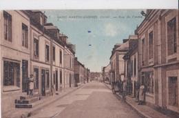 Carte 1930 SAINT MARTIN D'ASPRES / RUE DU CENTRE - France