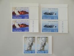 1965 Islande  Yv  347/9 X 2 ** Volcans  Scott 372/4  Michel 392/4 SG 423/5  Facit 429/31 - Neufs