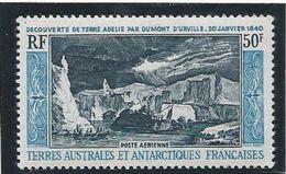 TAAF 1965 - YT PA N°8 - 50 F. - Découverte De La Terre Adélie Par Dumont D'Urville -   - NEUF* TTB Etat - Airmail
