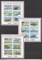 H430 TANZANIA WORLD WAR 2 50TH ANNIVERSSARY D-DAY 3KB MNH - 2. Weltkrieg