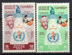 Kuwait - Koweit - 1969 - N° Yvert : 434 & 435 **  - Anniversaire De L'Organisation Mondiale De La Santé - Kuwait