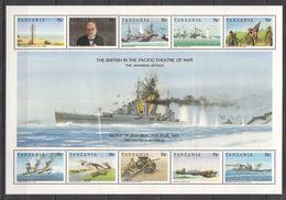 H433 TANZANIA WORLD WAR 2 BRITISH IN THE PACIFIC THEATRE OF WAR BATTLE OF JAVA SEA 1KB MNHV - 2. Weltkrieg