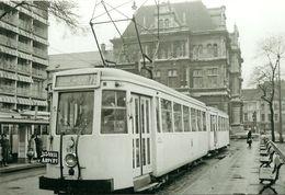 ANTWERPEN PHOTO EN GROS DU TRAM N° 999 DE LA SNCV  AU TERMINUS ROOSEVELTPLEIN EN 1957 (REPRO PHOTO DE BACKER) - Reproductions