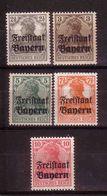 LOTE 1654  ///  (C050)  ALEMANIA BAYERN  YVERT Nº: 136/140 *MH - Bavaria