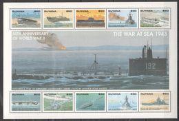H435 GUYANA SHIP WORLD WAR 2 WAR AT SEA 1943 1KB MNH - 2. Weltkrieg