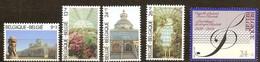 Belgie Belgique  1989 Yvertn° 2340-2344 *** MNH  Cote 10  Euro Serres Royales Et Chapelle Musicale - Belgique