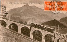 (61)  CPA Leysin  Viaduc     (bon Etat) - VD Vaud
