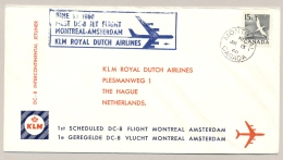 Canada - 1960 - 1e DC-8 KLM-flight From Montreal To Amsterdam / Nederland - Eerste Vluchten