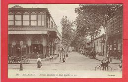 ARCACHON 1918 AVENUE GAMBETTA ET CAFE REPETTO CARTE EN BON ETAT - Arcachon