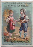 Chromo Publicitaire/Vêtements/Au Col Florence/Lune De Miel/SIAU/Bd Sebastopol/PARIS/Bouillon-Rivoyre/Vers 1890  IMA333 - Other