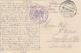 Feldpost Sur CPBruxelles - Bataillon Prussien  (voir Cachet) - WW I