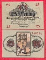 Allemagne 1 Notgeld 25 Pfenning  Stadt Wunfiedel UNC Lot N °60 - [ 3] 1918-1933 : Weimar Republic