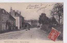 Carte 1910 PERVENCHERES / ROUTE DE MORTAGNE - Pervencheres