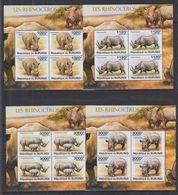 P62. MNH Burundi 2011 Nature Animals Wild Animals Rhino - Rhinozerosse