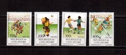 Cote D'Ivoire-1993,(Mi.1101-1104),Football, Soccer, Fussball,calcio,MNH - World Cup