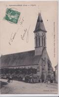 Carte 1910 PERVENCHERES / L'EGLISE TRES ANIMEE - Pervencheres