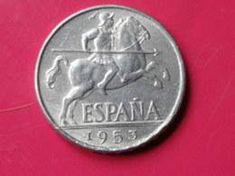 Espagne 10 Centimos 1953 Gouv.nationaliste Km#766     Lot1     Superbe  Aluminium - 10 Céntimos
