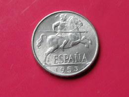 Espagne 10 Centimos 1953 Gouv.nationaliste Km#766     Lot 2    Superbe  Aluminium - 10 Céntimos
