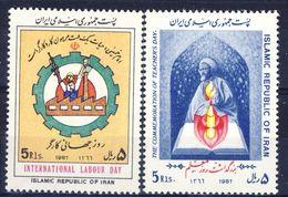 +D2660. Iran 1987. 2 Items. Michel 2212-13. MNH(**) - Iran