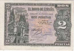 BILLETE DE ESPAÑA DE 2 PTAS  DEL 30 DE ABRIL DEL 1938 SERIE C CALIDAD MBC (VF) (BANKNOTE) - [ 3] 1936-1975 : Regency Of Franco