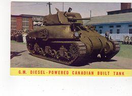 General Motors Diesel-Powered Canada Built Tank, Old Advertising Canada Postcard - Matériel