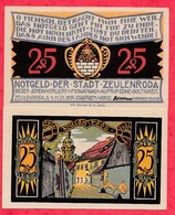 Allemagne 1 Notgeld 25 Pfenning  Stadt Zeulenroda UNC Lot N °81 - [ 3] 1918-1933 : Weimar Republic