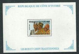 IVORY COAST COTE D'IVOIRE ROIS ET CHEFS TRADITIONNELS KING KINGS LEADERS COSTUMES COSTUME 2005 YT B BF 57 MNH ** RARE - Kostüme